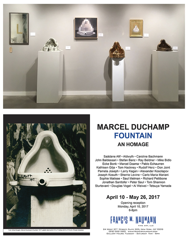 Opening 100th Anniversary Marcel Duchamp Fountain